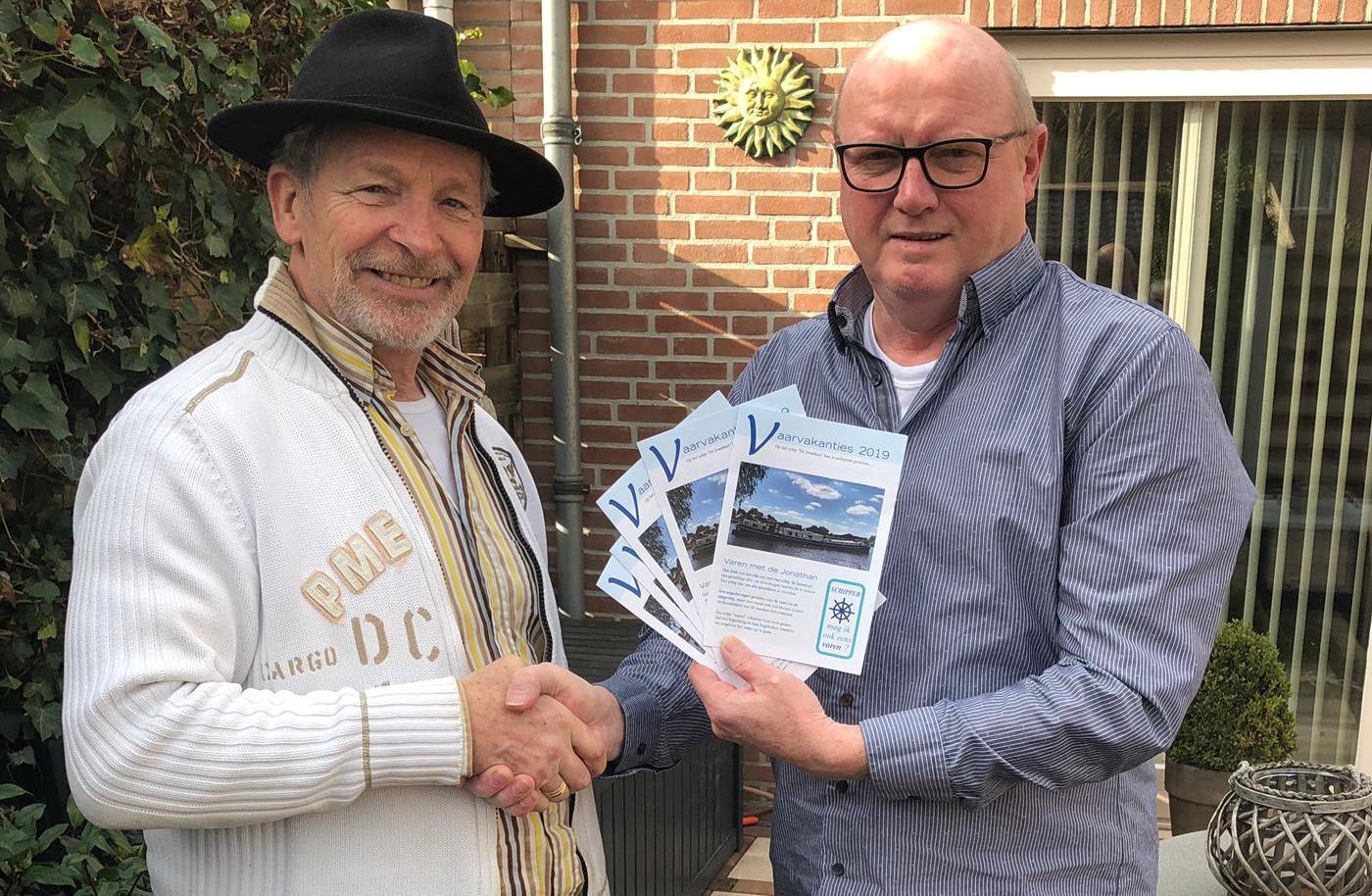 Flyer vaarseizoen 2019  bekostigd  door MHCL Grafisch Ontwerp